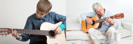 Old & Young Learning The Guitar