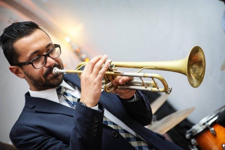 David N. Playing Trumpet